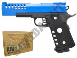M188 Metal Airsoft BB Gun Black and Blue
